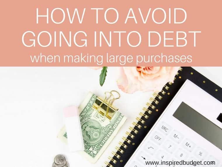 avoid debt by inspiredbudget.com