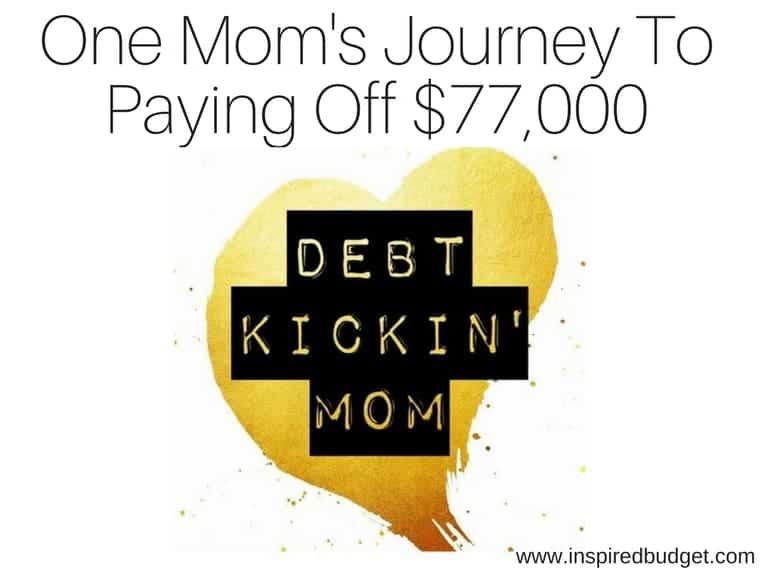 debt free story by inspiredbudget.com