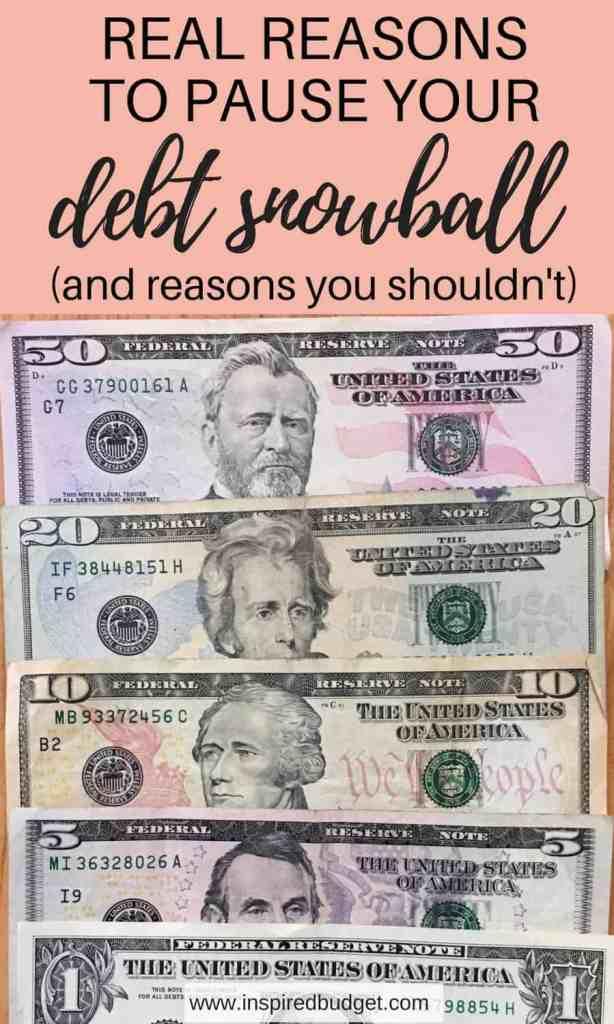 debt snowball by www.inspiredbudget.com