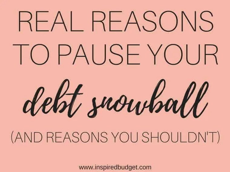 debt snowball by www.inspiredbudget.com