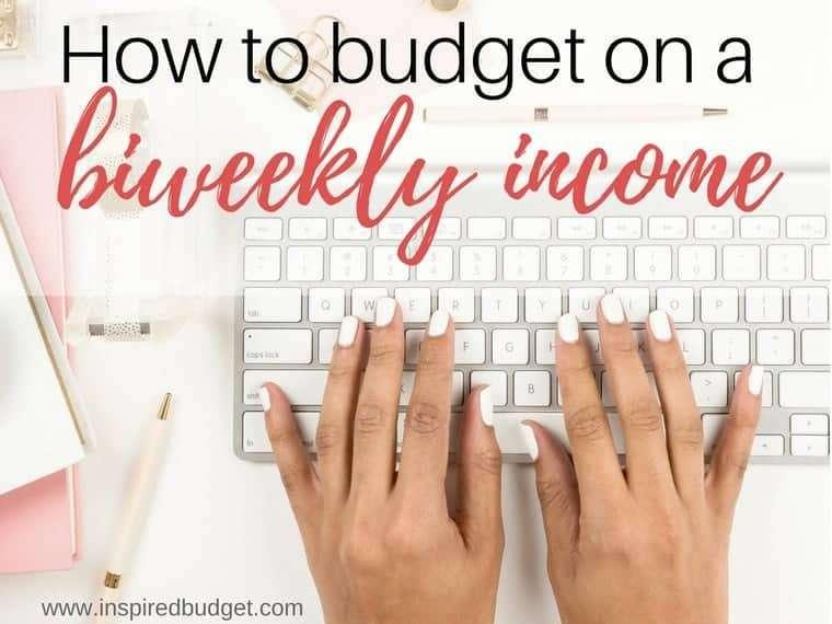 budget biweekly income by www.inspiredbudget.com
