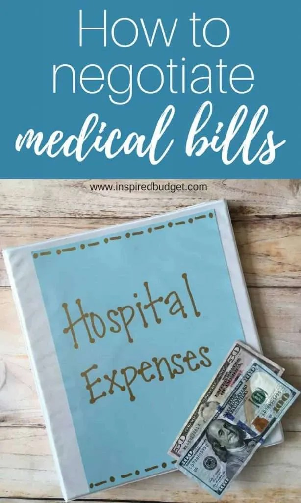how to negotiate your medical bills for less than you owe by inspredbudget.com