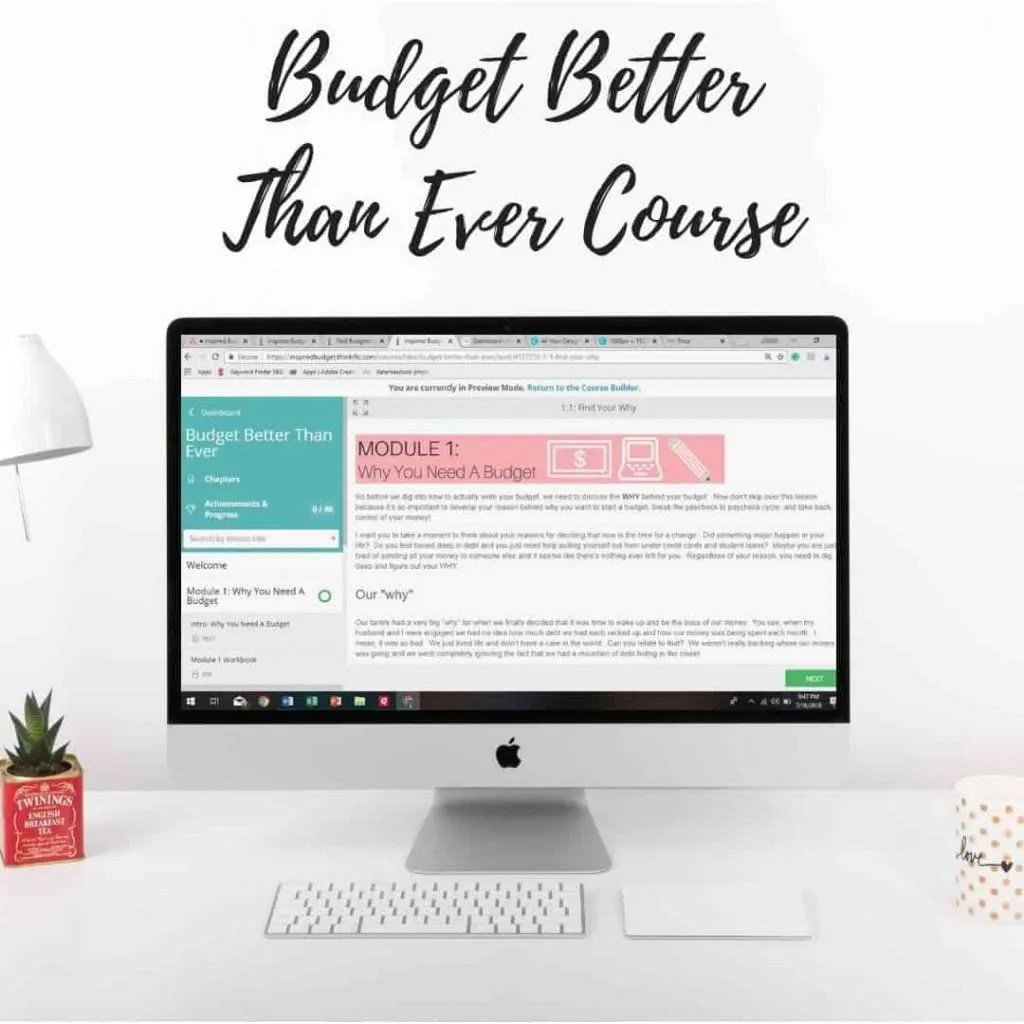 Budget Better Than Ever Online Course by InspiredBudget.com