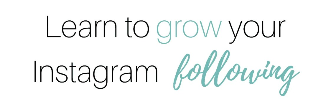 Learn to grow your Instagram following by InspiredBudget.com