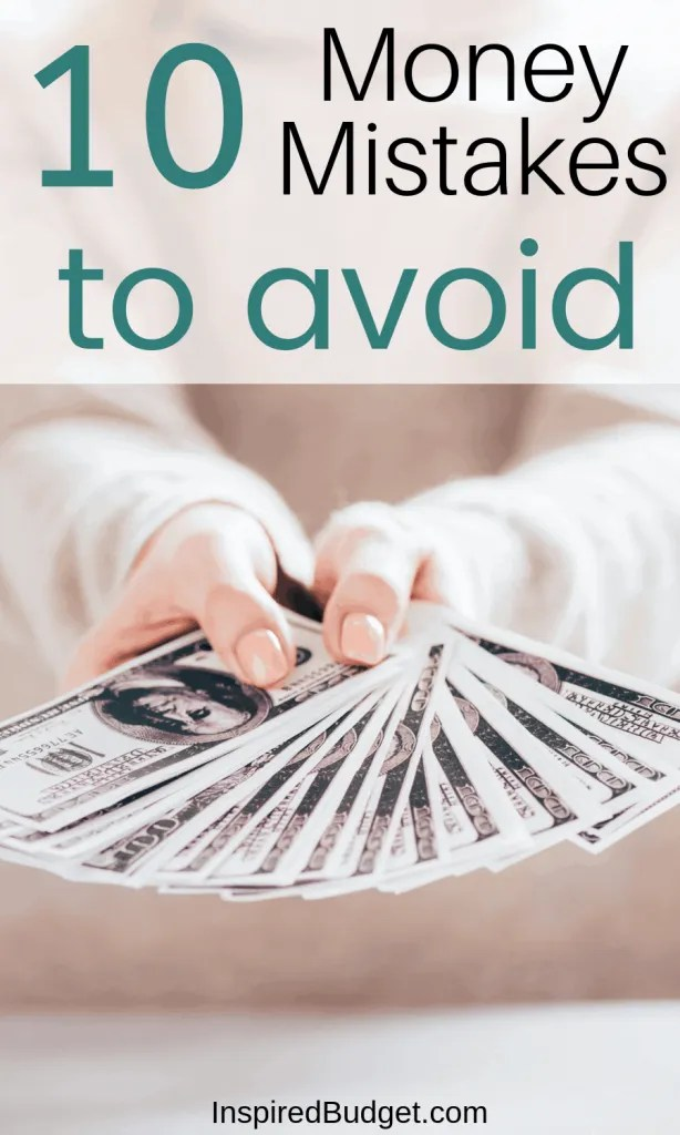 Money Mistakes To Avoid by InspiredBudget.com