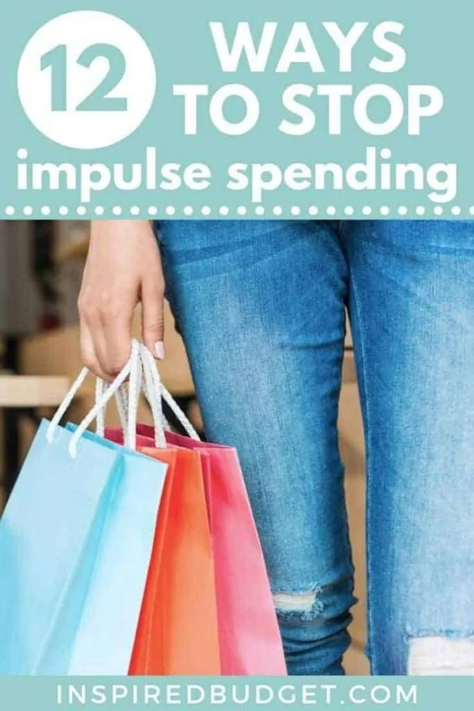 How To Stop Impulse Spending by InspiredBudget.com