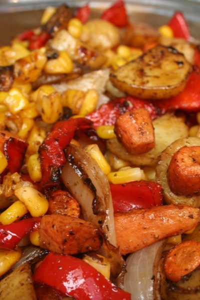 Light Balsamic Roasted Veggies