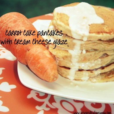 Carrots For Breakfast: Carrot Cake Pancakes with Cream Cheese Glaze