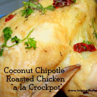 Chipotle Coconut Roasted Chicken (Crockpot)