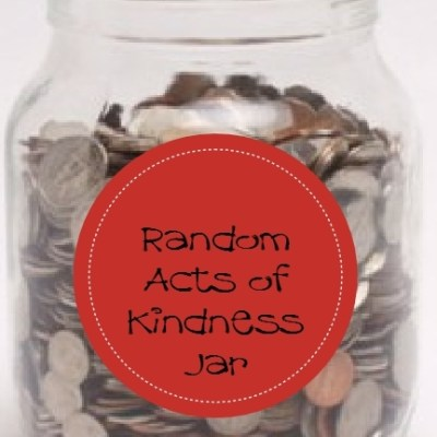 Random Acts of Kindness Coin Jar