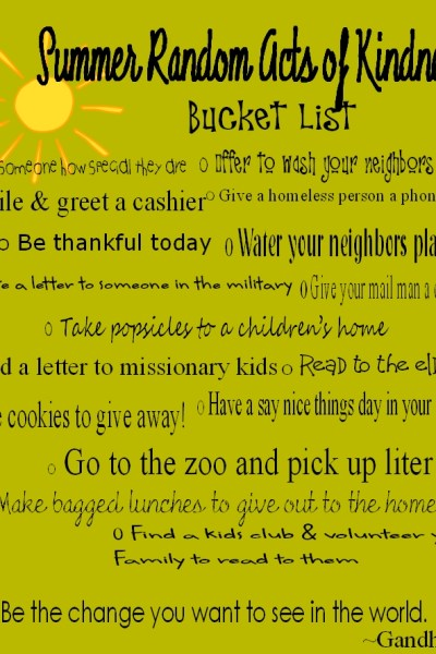 Make A Difference Bucket List