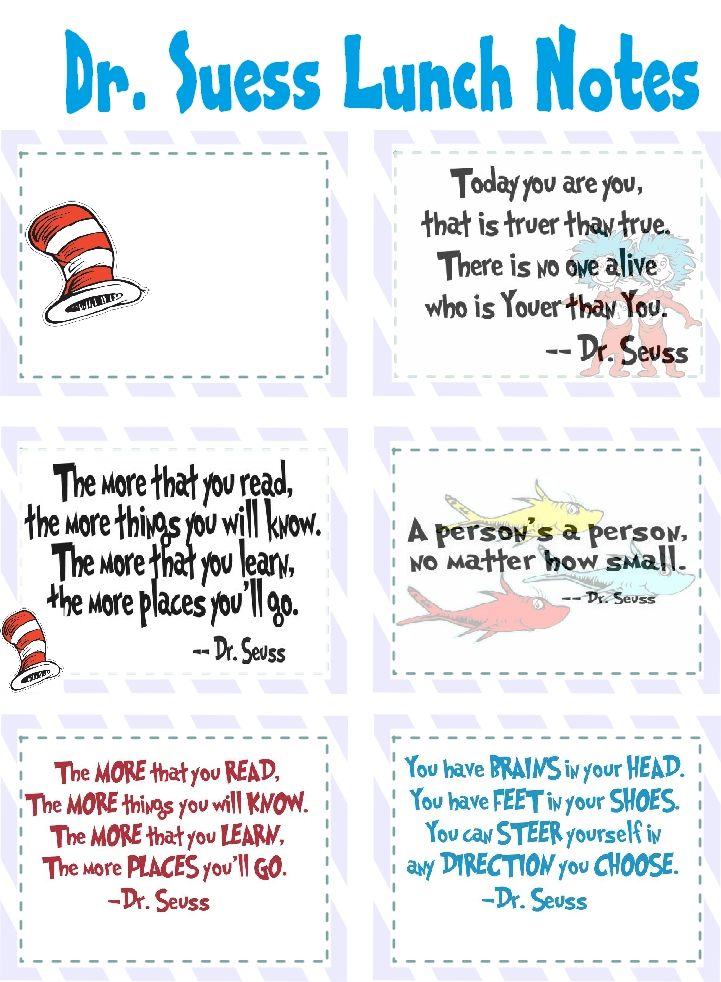 This is a photo of Vibrant Printable Dr Seuss Quotes