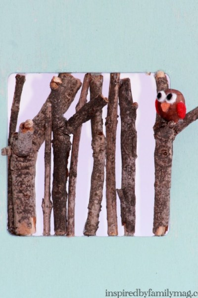 Nature Hunt Craft: Owl in Tree Frame
