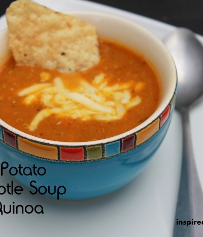 Sweet Potato Chipotle Soup w/ Quinoa