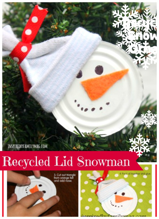 recycle-lid-snowman-craft