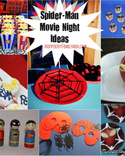 Spider-Man Family Movie Night Activities and Crafts