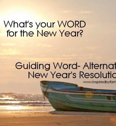 New Year's Family Activity: One Word for the New Year