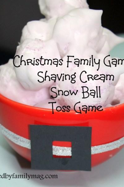 Shaving Cream Snow Ball Toss Game