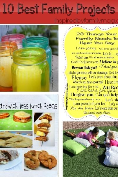 family crafts, recipes