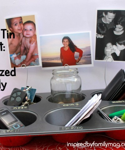 Get Organized Caddy & Photo Holder: Muffin Tin Craft