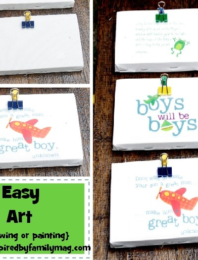 Kid Space Decor: DIY Easy Wall Art