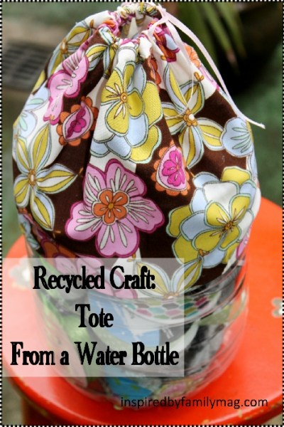 Recycled Water Bottle Craft: Tote Organizer
