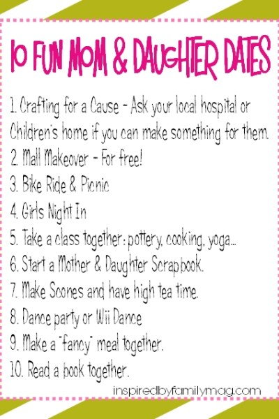 10 Fun & Frugal Mother & Daughter Dates