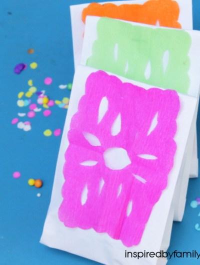 Cinco de Mayo Party Favor Bags: Papel Picado