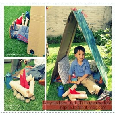 DIY Recycled Box Playhouse Tent