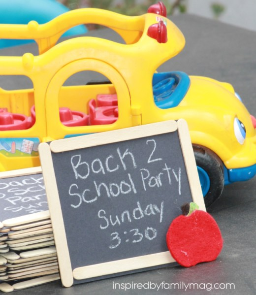 back to school party invitations