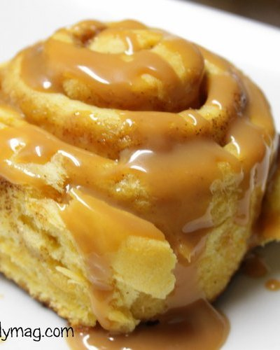 Secret Ingredient Pumpkin Cinnamon Rolls with Caramel Icing