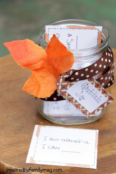 gratitude & thanksgiving jar