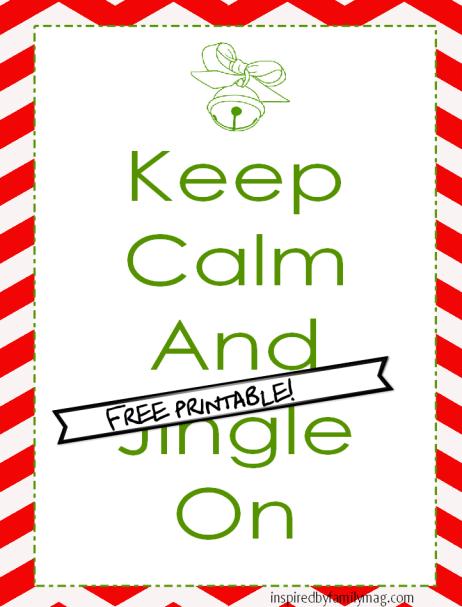 keep calm christmas printable