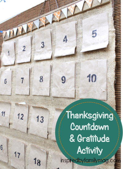thanksgiving countdown & gratitude
