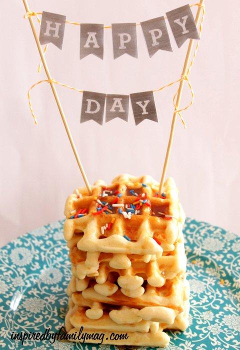 waffle cake birthday tradition