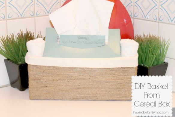 diy basket from cereal box