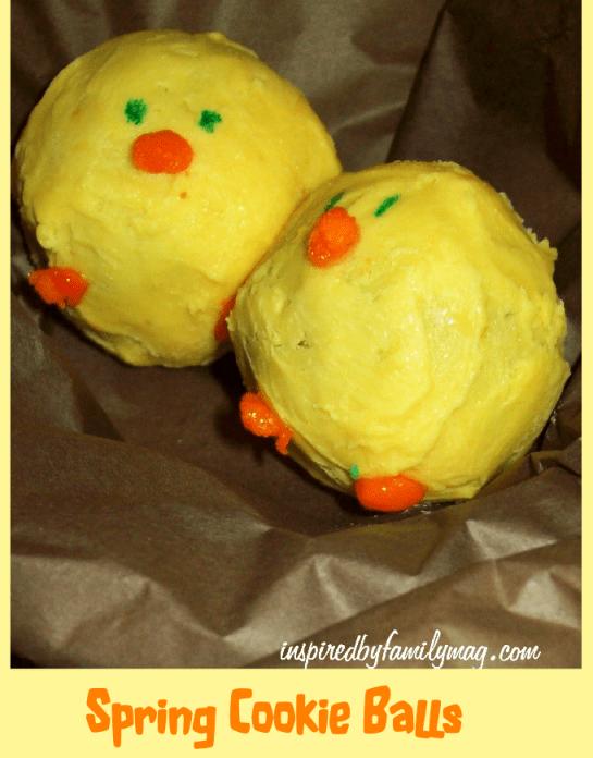 spring cookie balls