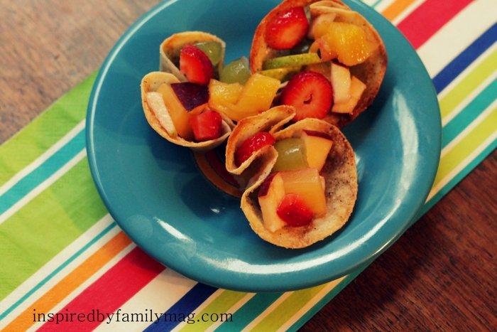 cinnamon crisp tortilla bowls