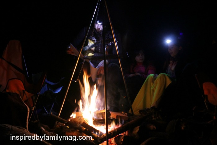 upside down campfire