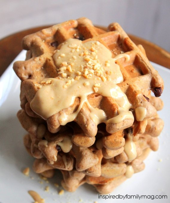 easy belgian chocolate waffles