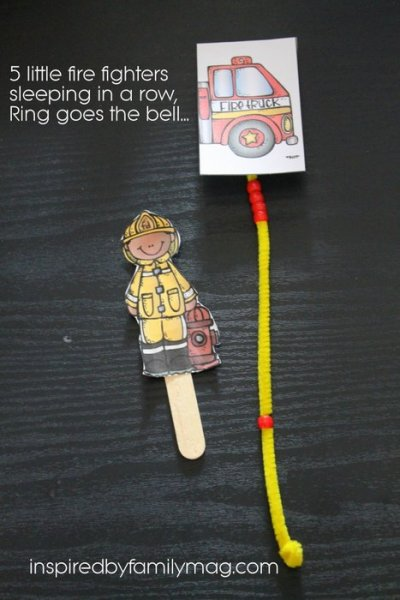 5 Little Fire Fighters Poem & Activity