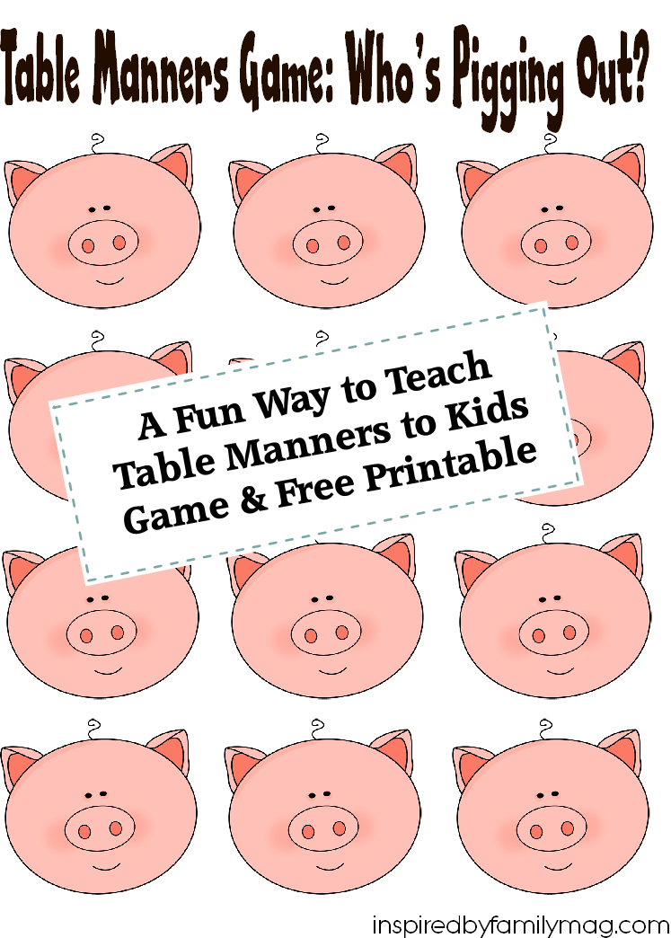 graphic regarding Table Manners for Kids Printable named A Exciting Path in the direction of Educate Desk Manners toward Children Absolutely free Printable