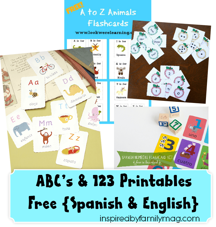 image about Free Printable Spanish Flashcards referred to as ABCs 123 Printables and Far more Spanish English