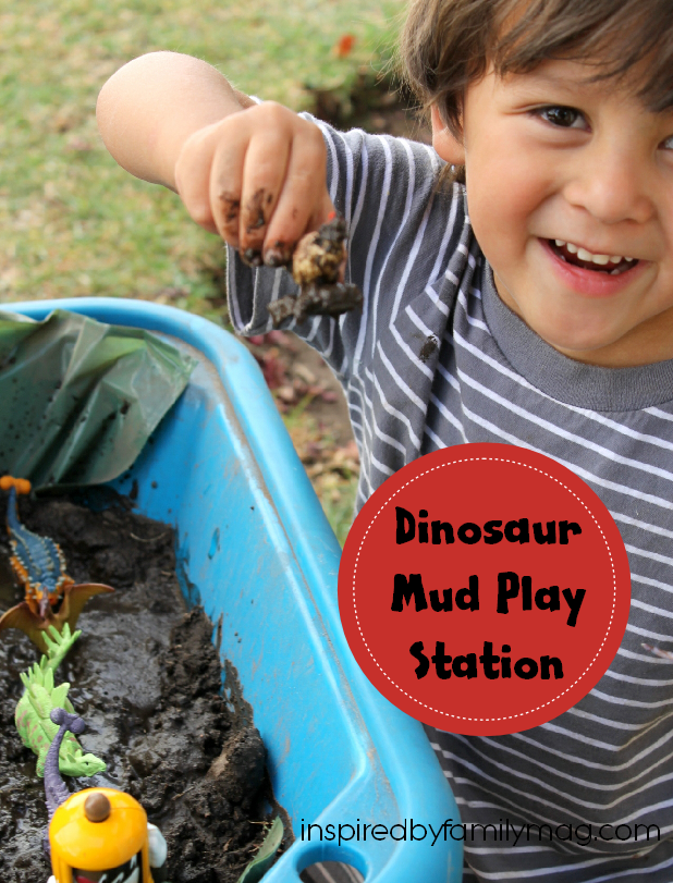 dinosaur mud play station