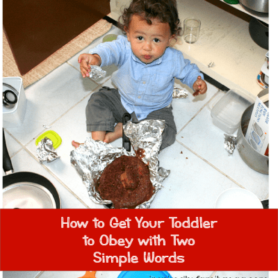 Getting My Toddler to Obey with Two Simple Words