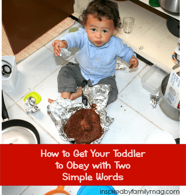 get your toddler to obey tip