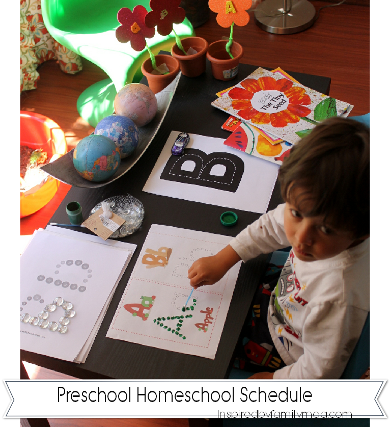 preschool homeschool schedule
