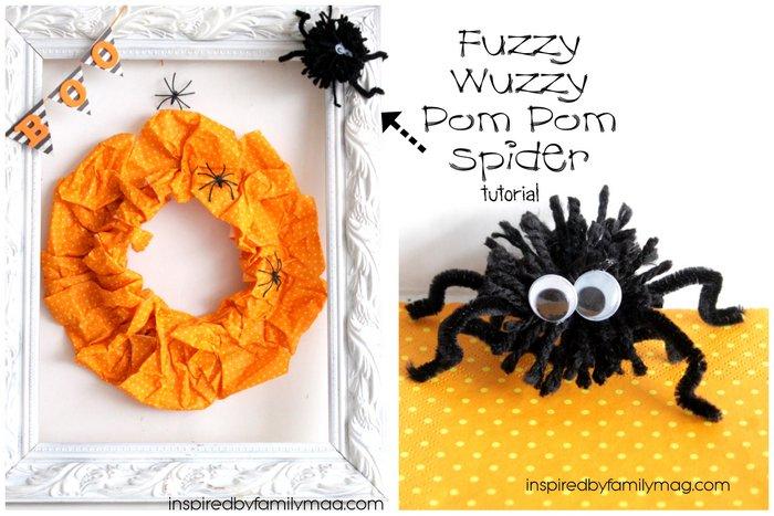 pom pom spider tutorial