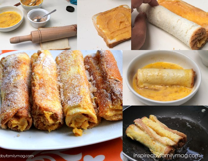 pumpkin french toast rolls