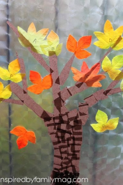 Fall Leaves Letter Learning Activity